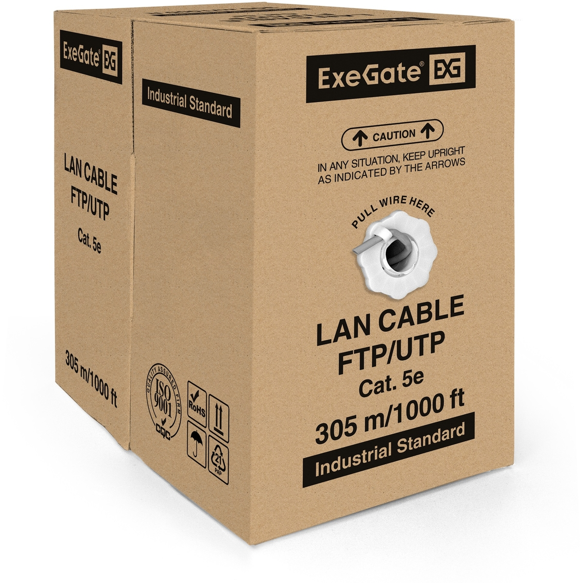 Cable ExeGate Special FUTP4-C5e-CU-S26-IN-PVC-GY-305 FTP