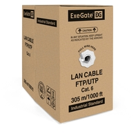 Cable ExeGateUTP4-C6-CCA-S23-IN-PVC-GY-305 UTP
