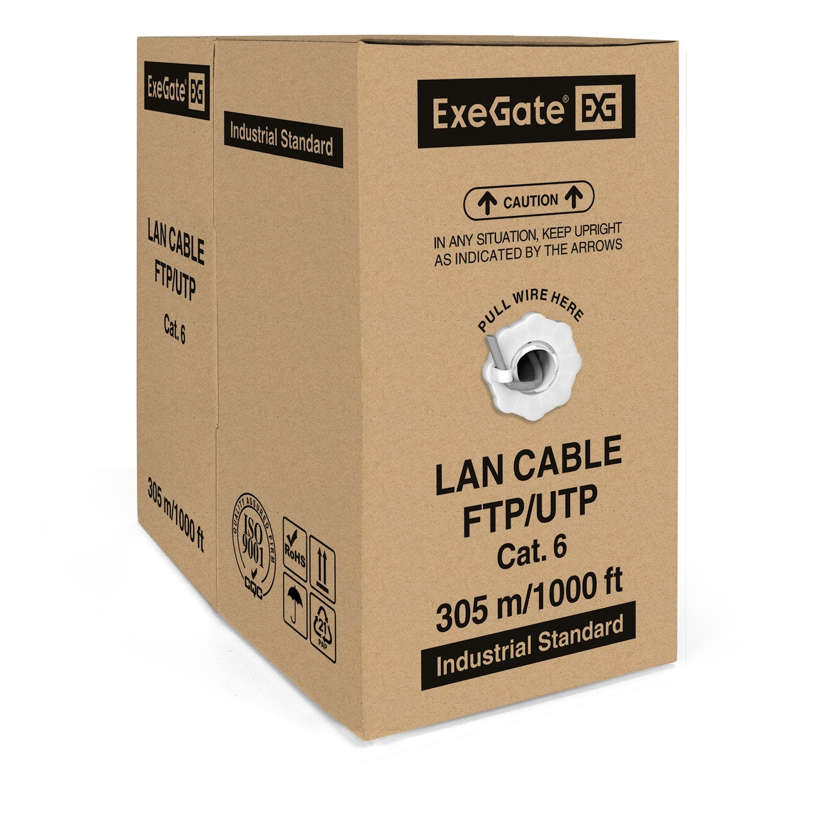 Cable ExeGate FUTP4-C6-CU-S23-IN-PVC-GY-305 FTP