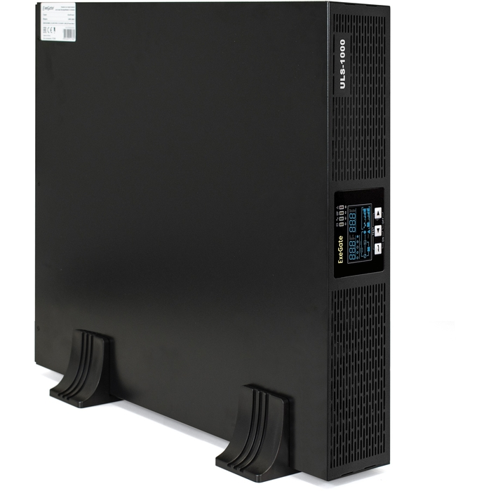 UPS On-line ExeGate PowerExpert ULS-1000.LCD.AVR.C13.USB.RS232.SNMP.2U